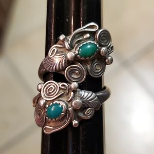 Turquoise Sterling Silver Bypass Ring